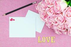 украшение романтичное, valentine& x27 St; концепция дня s, взгляд сверху fla Стоковое фото RF