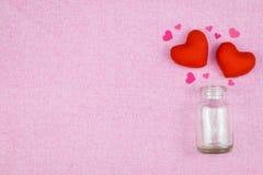 украшение романтичное, valentine& x27 St; концепция дня s, взгляд сверху fla Стоковые Фото