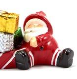 Украшение Санта Клаус с подарочной коробкой стоковое фото rf