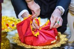 Украшение свадебной церемонии Приданое свадьбы, замужество приданого в Таиланде стоковая фотография