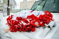 Украшение свадьбы автомобиля Стоковые Фото