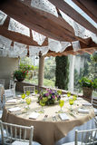 Украшение свадьбы знамени салфетки отрезка мексиканца Стоковые Фотографии RF
