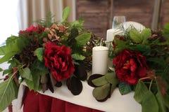 Украшение свадьбы на свадьбе Стоковая Фотография RF