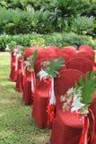 Украшение свадьбы сада стоковое изображение