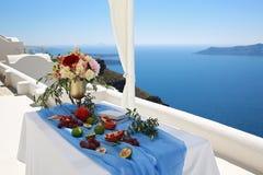 Украшение свадьбы с видом на море Стоковые Фото