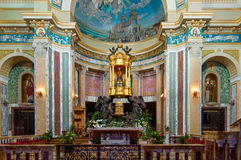 Украшение святилища Tindari в Сицилии и черном Madon Стоковое Изображение RF