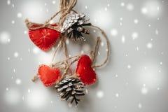 Украшение сердец праздника дня валентинок красное Стоковое фото RF