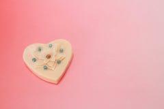 Украшение сердца валентинки в розовой ступенчатости Стоковые Фото