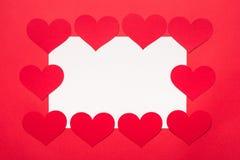 Украшение сердца рождества на красном бархате Стоковые Изображения RF