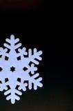 Украшение снежинки рождества войлока Стоковая Фотография