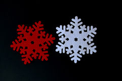 Украшение снежинки рождества войлока Стоковое Изображение