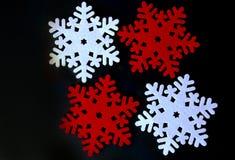 Украшение снежинки рождества войлока Стоковые Изображения RF