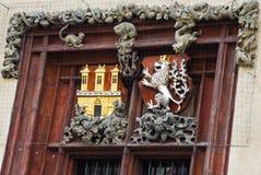 Украшение старого здания в Праге Стоковая Фотография