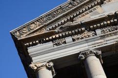 Украшение старой крыши виска Garni, Армении, наследия ЮНЕСКО Стоковые Изображения RF