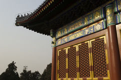 Украшение с зданий Пекина Китая виска Temple of Heaven Tiantan Daoist eligious Стоковые Фото