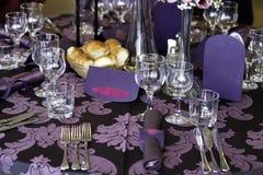 Украшение таблицы венчания Стоковая Фотография