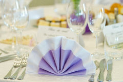 Украшение таблицы венчания Стоковое Фото
