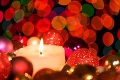 Украшение таблицы рождества флористическое Стоковое фото RF