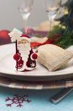 Украшение таблицы Нового Года ans рождества Стоковое фото RF