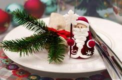 Украшение таблицы Нового Года ans рождества Стоковое Фото