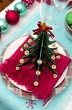 Украшение таблицы Нового Года ans рождества Стоковые Изображения RF