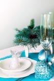 Украшение таблицы Нового Года ans рождества Стоковые Фото
