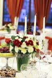 Украшение таблицы свадьбы Стоковое Изображение
