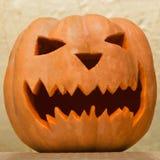 Украшение тыквы на хеллоуин Стоковое фото RF