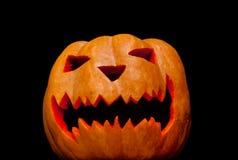 Украшение тыквы на хеллоуин Стоковое Изображение RF