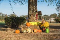 Украшение хеллоуина на сельском Арканзасе, США Стоковое фото RF