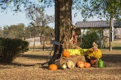 Украшение хеллоуина на сельском Арканзасе, США Стоковая Фотография RF