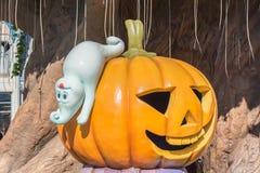 Украшение хеллоуина в парке потехи Стоковые Изображения RF