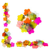 украшение цветет форма plactic Стоковые Фото