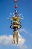 Украшение для торжества Galungan, остров поляка Penjor Бали, Индонезия Стоковое фото RF