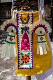 Украшение для торжества Galungan, остров поляка Penjor Бали, Индонезия Стоковое Изображение RF