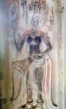 Украшение Apsaras, Камбоджа Стоковые Фотографии RF