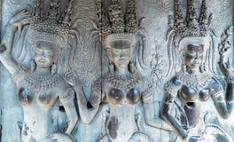 Украшение Apsaras, Камбоджа Стоковая Фотография RF