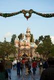 украшение disneyland рождества замока Стоковая Фотография