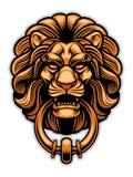 Украшение knocker двери льва Стоковое Изображение RF