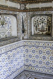 Украшение Marbel усыпальницы Itimad-ud-Daulah или младенца Taj в Агре, Индии Стоковая Фотография