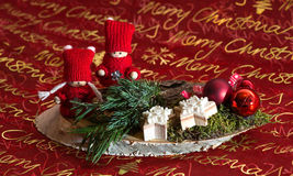 Украшение Weihnachtsgesteck рождества Стоковое Фото