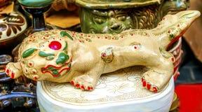 Украшения блошинного Panjuan дракона китайской реплики керамические Стоковое фото RF