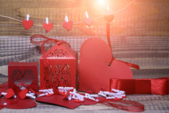 Украшения валентинки бумажные Стоковое Фото