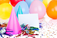 Украшения вечеринки по случаю дня рождения Стоковая Фотография