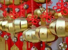 Украшения вися на китайском виске Стоковые Фото