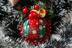 Украшения и венки рождества стоковые изображения rf
