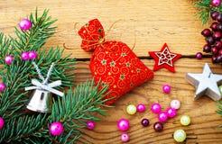 Украшения и подарок на рождество рождества Стоковая Фотография