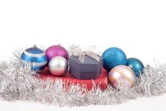Украшения и подарки рождества Стоковое Изображение RF