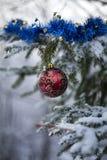 Украшения на рождественской елке внешней Стоковое Фото