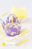 Украшения пирожного с свечами Стоковое Изображение